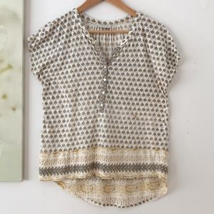 Lucky Brand Top Patterned Sz M